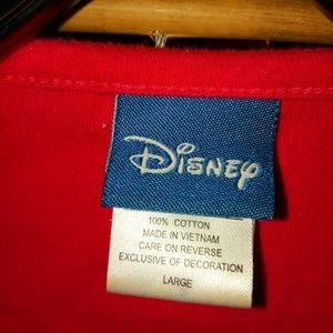 Disney Mickey Wreath Red Sweatshirt Sz L